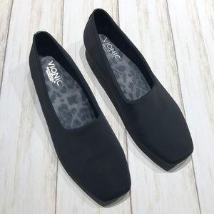 Vionic Powell Black Slip On Loafer Orthaheel Tech